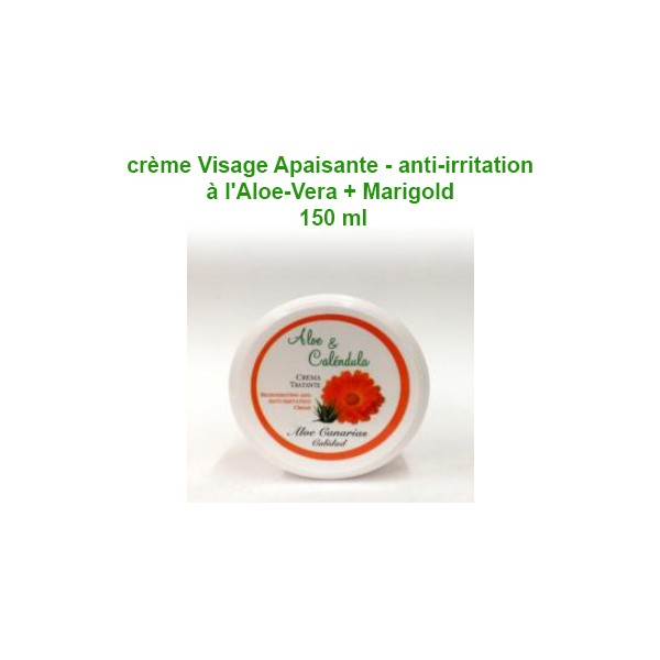 crème Visage Apaisante - anti-irritation à l'Aloe-Vera + Marigold 150 ml