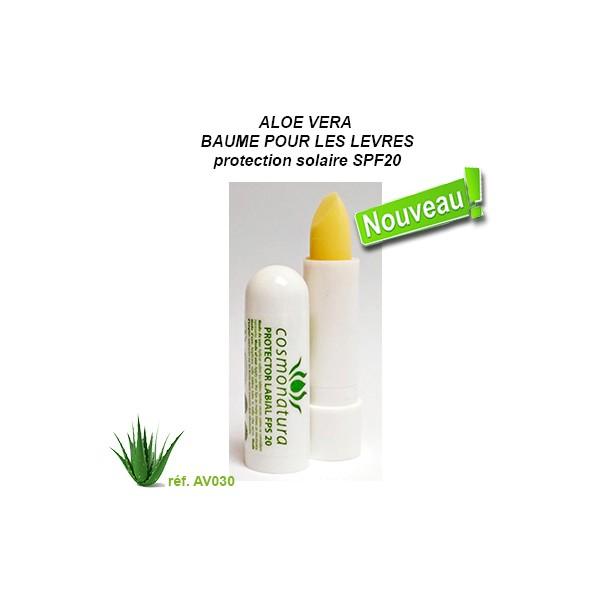 Baume pour les lèvres Aloe-Vera et Calendula
