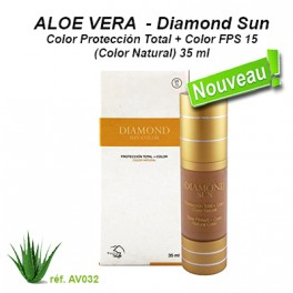 Diamond Sun-Color Protección Total + Color FPS 15 (Color Natural) 35 ml