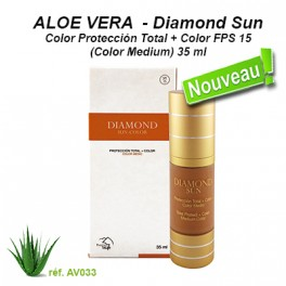 Diamond Sun-Color Protección Total + Color FPS 15 (Color Medium) 35 ml